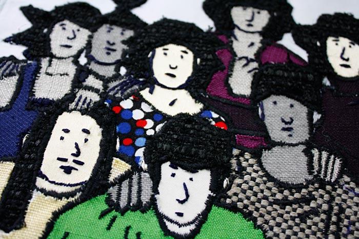 Coussin réalisé par Anne Bascoul (zoom)