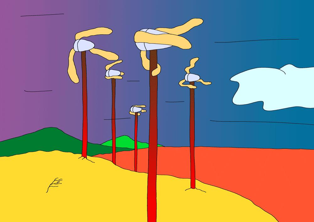 Illustrion : des éoliennes aux pâles molles