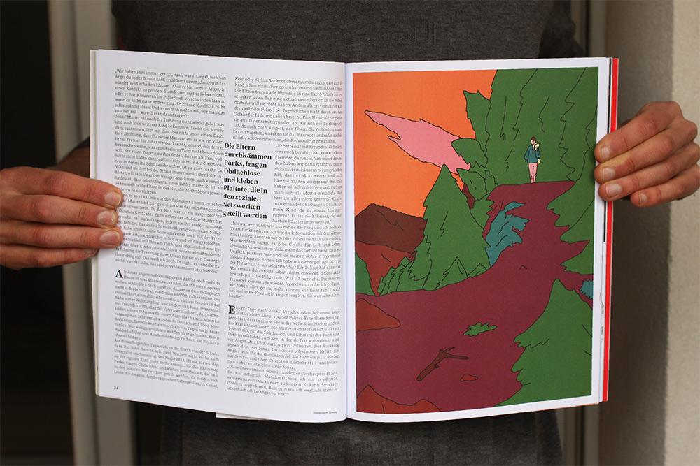Illustration d'un article : un homme se promène sur un chemin forestier
