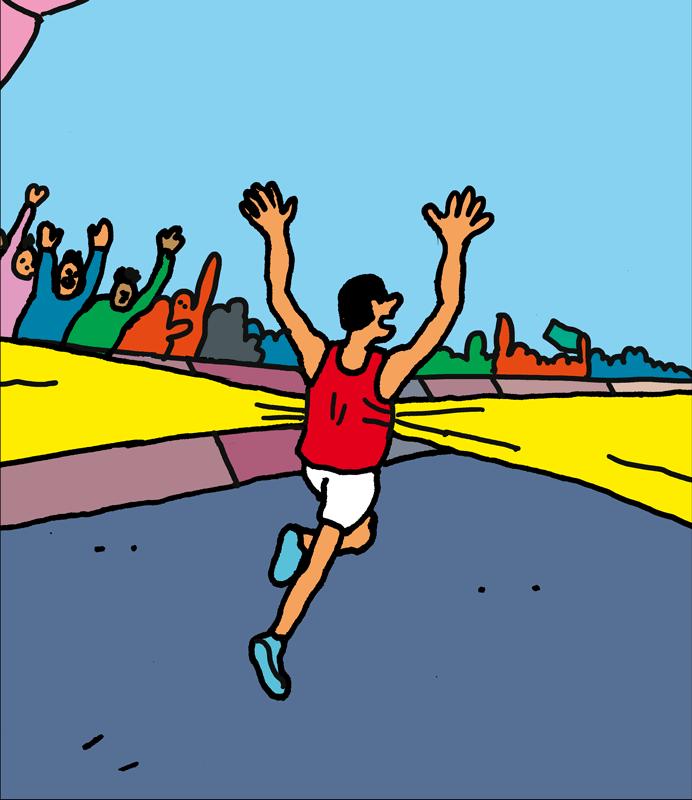 BD-arrivée d'un courreur