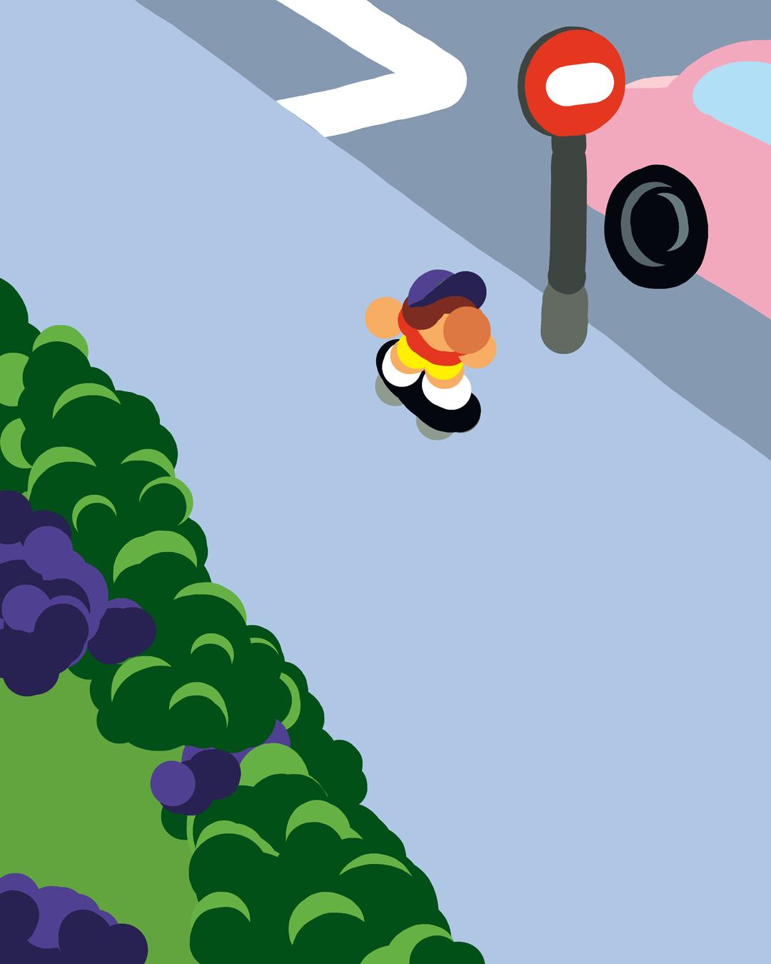 Illustration : Planche à roulettes