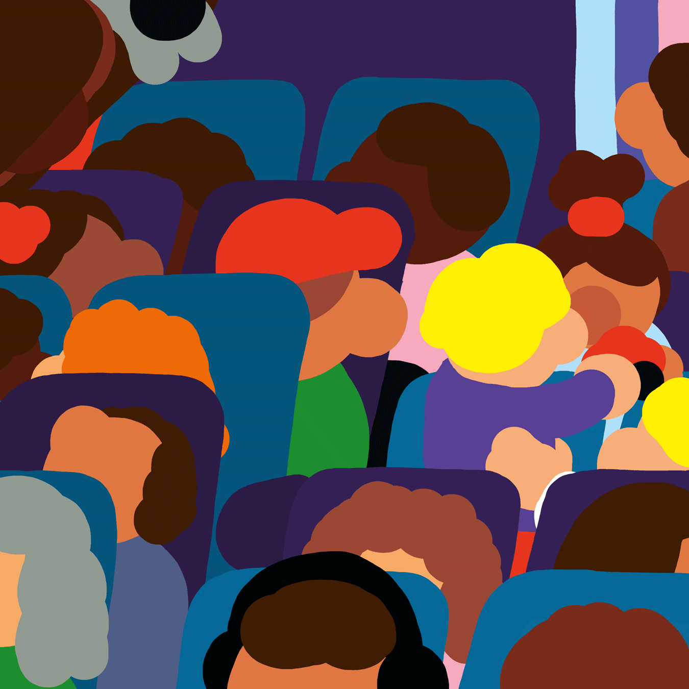 Des passagers dans un TGV