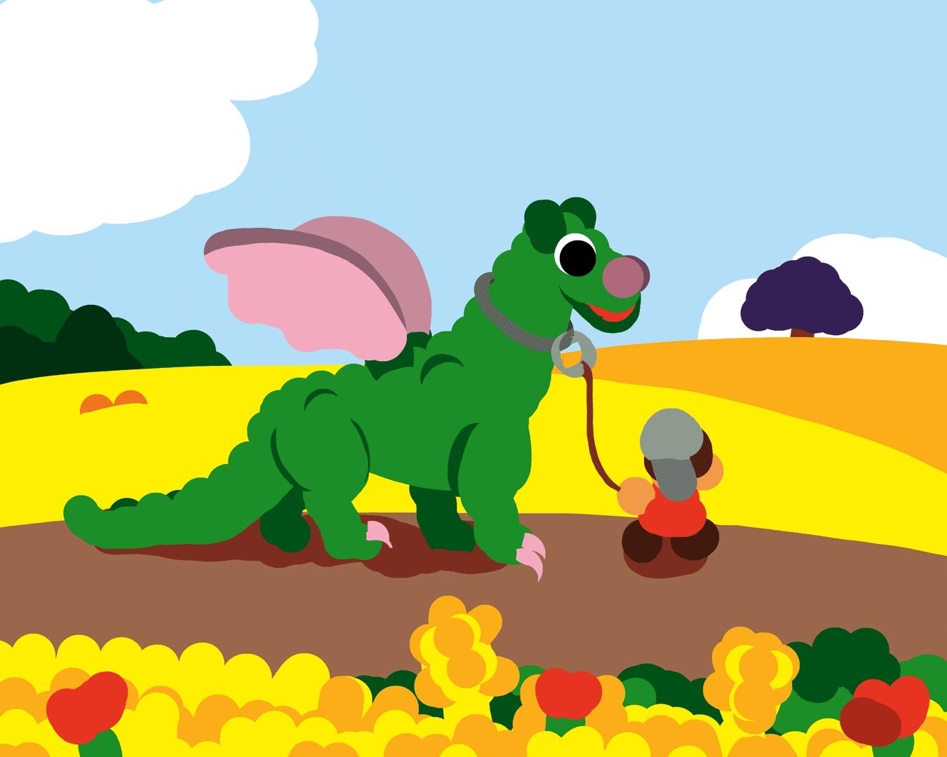Illustration - Jean-Claude ayant terrassé le Dragon