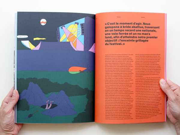 Illustration d'un article sur l'inscrust dans la magazine Hobbies : un homme creuse un tunnel pour rentrer gratuitement dans un festival de rock